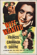 "Movie Posters:Crime, Wife Wanted (Monogram, 1946). One Sheet (27"" X 41""). Crime.. ..."