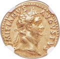 Ancients:Roman Imperial, Ancients: Domitian (AD 81-96). AV aureus (19mm, 7.05 gm, 6h). NGCXF ★ 5/5 - 5/5....