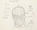 animation art:Model Sheet, Spider-Man Model Sheet (Grantray-Lawrence, c. 1967-70)....