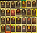 Autographs:Bats, Hall of Fame Yellow Post Card Plaque Signed Collection (11...