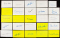 Autographs:Index Cards, Baseball Hall of Fame Signed Index Card Lot of 84....