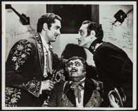 """Tyrone Power and Basil Rathbone in The Mark of Zorro (20th Century Fox, 1940). Autographed Photo (8"""" X 10""""). S..."""