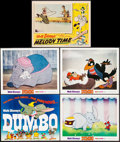 """Movie Posters:Animation, Dumbo & Others Lot (Buena Vista, R-1972). Title Lobby Card,Lobby Cards (4) (11"""" X 14""""), Uncut Pressbooks (2) (Multiple Page...(Total: 8 Items)"""