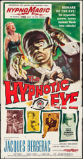 """Movie Posters:Horror, The Hypnotic Eye (Allied Artists, 1960). Three Sheet (40.5"""" X 78"""") & Uncut Pressbook (12 Pages, 12"""" X 18""""). Horror.. ... (Total: 2 Items)"""