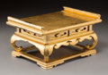 Asian:Japanese, A Miniature Japanese Gilt and Lacquered Wood Scholar's Table inCollector's Box. 5-3/4 h x 11-1/4 w x 7-1/2 d inches (14.6 x...
