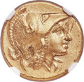 Ancients:Greek, Ancients: MACEDONIAN KINGDOM. Alexander III the Great (336-323 BC). AV stater (18mm, 8.59 gm, 2h). NGC MS 5/5 - 2/5, scuffs....