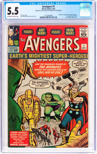 The Avengers #1 (Marvel, 1963) CGC FN- 5.5 Off-white to white pages