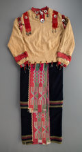 American Indian Art:Beadwork and Quillwork, An Osage Woman's Ribbonwork Outfit c. 1900