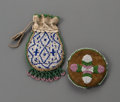 American Indian Art:Beadwork and Quillwork, Two Plains Beaded Hide Pouches  c. 1900