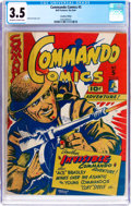 Golden Age (1938-1955):War, Commando Comics #5 (Bell Features, No Date) CGC VG- 3.5 Off-whiteto white pages....