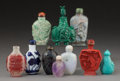 Asian:Chinese, Ten Chinese Snuff Bottles. 3-3/8 inches high (8.6 cm) (tallest).... (Total: 10 Items)