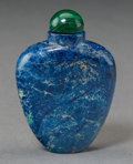 Asian:Chinese, A Chinese Carved Lapis Lazuli Snuff Bottle. 2-1/2 inches high (6.4cm). ...