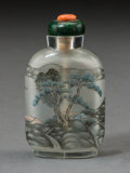 Asian:Chinese, A Chinese Reverse Painted Glass Snuff Bottle. 2-1/2 inches high(6.4 cm). ...