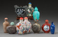 Asian:Chinese, A Group of Ten Chinese Snuff Bottles. 3-1/2 inches high (8.9 cm)(tallest). ... (Total: 10 Items)