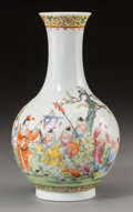 Asian:Chinese, A Chinese Porcelain Boys at Play Bottle Vase, Republic Period,circa 1912-1949. Marks: Six-character Qianlong mark and of a ...