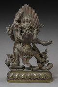 Asian:Chinese, A Tibetan Bronze Yamantaka Tantric Figural Group, 19th century.5-1/4 h x 3-3/8 w x 2 d inches (13.3 x 8.6 x 5.1 cm). ...