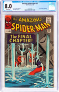 Silver Age (1956-1969):Superhero, The Amazing Spider-Man #33 (Marvel, 1966) CGC VF 8.0 Off-whitepages....
