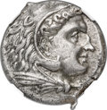 Ancients: SICILY. Siculo-Punic. Ca. 300-289 BC. AR tetradrachm (23mm, 16.92 gm, 3h). NGC AU 5/5 - 4/5