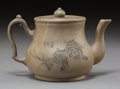 Asian:Chinese, A Chinese Yixing Pottery Teapot. Marks: Impressed four-charactermark. 4-7/8 inches high (12.4 cm). ...