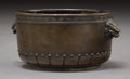 Asian:Chinese, A Small Chinese Bronze Censer, early Qing Dynasty. Marks: Castsix-character Xuande mark. 1-7/8 h x 4 w x 3-1/4 d inches (4....