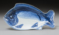 Asian:Japanese, A Japanese Blue and White Porcelain Fish Plate, early Edo Period,17th century. Marks: Four-character mark in blue underglaz...
