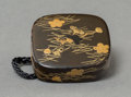 Asian:Japanese, A Japanese Lacquered Netsuke. 1-1/4 inches high x 1-1/2 inches wide(3.2 x 3.8 cm). ...