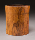 Asian:Chinese, A Chinese Wooden Brush Pot, Late Qing Dynasty. 6 inches high x5-1/2 inches diameter (15.2 x 14.0 cm). ...