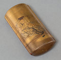 Asian:Japanese, A Japanese Gold Lacquered Six-Part Inro, Meiji Period, late 19thcentury. Marks: (signature). 3-1/2 inches high x 1-3/4 inch...