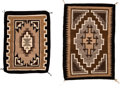 American Indian Art:Weavings, Two Small Regional Rugs. Two Gray Hills... (Total: 2 Items)