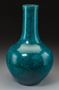 Asian:Chinese, A Large Chinese Turquoise Glazed Porcelain Bottle Vase. 16-1/2inches high (41.9 cm). ...