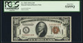 Small Size:World War II Emergency Notes, Fr. 2303 $10 1934A Hawaii Federal Reserve Note. PCGS About New 53PPQ.. ...