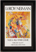 Basketball Collectibles:Others, 1977 NBA All-Star Game LeRoy Neiman Print. . ...