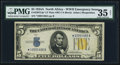 Small Size, Fr. 2307 $5 1934A North Africa Star Silver Certificate. PMG Choice Very Fine 35 Net.. ...