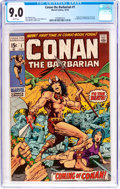 Bronze Age (1970-1979):Adventure, Conan the Barbarian #1 (Marvel, 1970) CGC VF/NM 9.0 White pages....