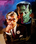 Memorabilia:Movie-Related, Basil Gogos - Boris Karloff Signed Limited Lithograph Print#239/2500 (Basil Gogos, 1995)....