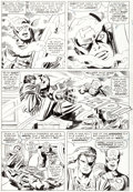 Original Comic Art:Panel Pages, Jack Kirby and Frank Giacoia Tales of Suspense #78 StoryPage 9 Captain America Original Art (Marvel, 1966)....