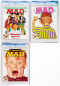 Magazines:Mad, MAD #301-303 CGC-Graded Hussein Asylum Editions Group (EC,1991).... (Total: 3 Comic Books)