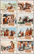 """Movie Posters:Western, Westward Ho the Wagons! (Buena Vista, 1957). Lobby Card Set of 8 (11"""" X 14"""") & Uncut Pressbook (20 Pages, 12"""" X 18""""). Wester... (Total: 9 Items)"""