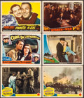 "Movie Posters:War, Bataan & Others Lot (MGM, 1943). Lobby Cards (6) (11"" X 14"").War.. ... (Total: 6 Items)"