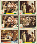 """Movie Posters:War, Flying Tigers & Other Lot (Republic, 1942). Lobby Cards (6)(11"""" X 14""""). War.. ... (Total: 6 Items)"""