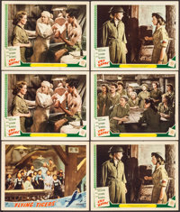 """Flying Tigers & Other Lot (Republic, 1942). Lobby Cards (6) (11"""" X 14""""). War. ... (Total: 6 Items)"""
