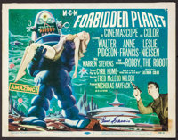 "Forbidden Planet (MGM, 1956). Autographed Title Lobby Card (11"" X 14""). Science Fiction"