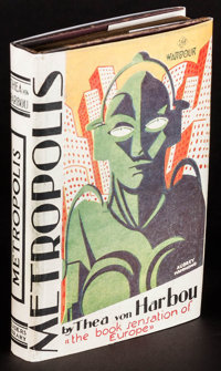 """Metropolis by Thea von Harbou (Readers Library, 1927). First British Edition Hardcover Book (250 Pages, 4.25"""" X 6.2..."""