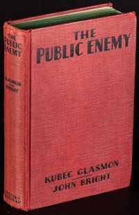 The Public Enemy by Kubec Glasmon and John Bright (Grosset & Dunlap, 1931). First US Photoplay Edition Hardcover Boo...