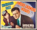 "Movie Posters:Crime, Twelve Crowded Hours (RKO, 1939). Trimmed Title Lobby Card (10.75""X 13.5""). Crime.. ..."
