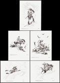 Movie Posters:Miscellaneous, Kubla Khan by Frank Frazetta (Frank Frazetta Prints, 1977). Signed and Numbered Limited Edition Art Portfolio with Prints (5...