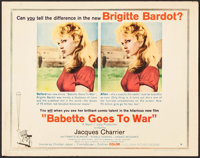 """Babette Goes to War (Columbia, 1960). Half Sheet (22"""" X 28"""") Style B. Foreign"""