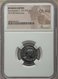 Ancients:Ancient Lots , Ancients: ANCIENT LOTS. Roman Imperial. Constantine I (AD 307-337).Lot of two (2) AE3s or BI nummus. NGC Choice AU.... (Total: 2coins)