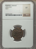 Ancients:Ancient Lots , Ancients: ANCIENT LOTS. Greek. Ca. 230-65 BC. Lot of two (2) AEissues. NGC VF.... (Total: 2 coins)