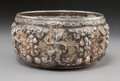 Asian:Other, A Nepalese Repoussé Silver Bowl, 18th-19th century. Marks:(Contemporary assay marks). 3-1/8 inches high x 6 inchesdiameter...